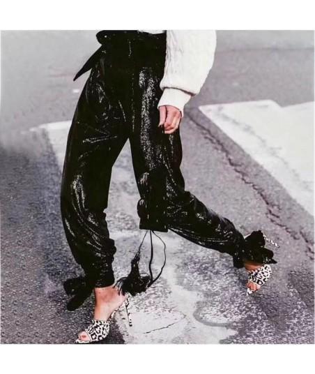 Pantaloni Baggy Paillettes