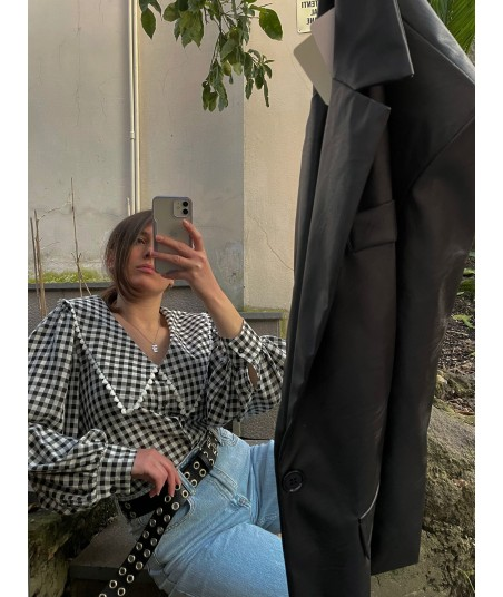 Camicia Vichy Nera