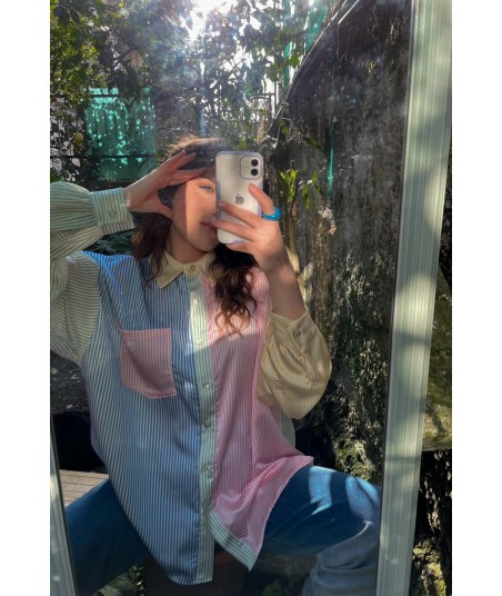 Camicia Satin Pastello