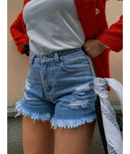Shorts High Rise Frayed