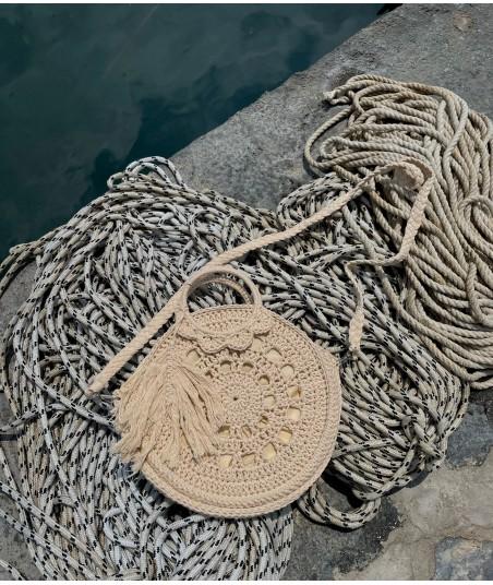 Borsa Crochet Avorio