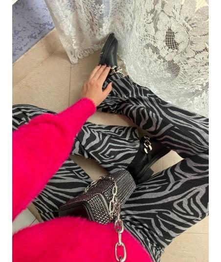 Pantaloni Flare Zebra