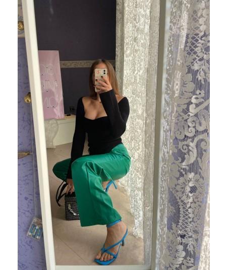 Pantaloni Similpelle Verdi