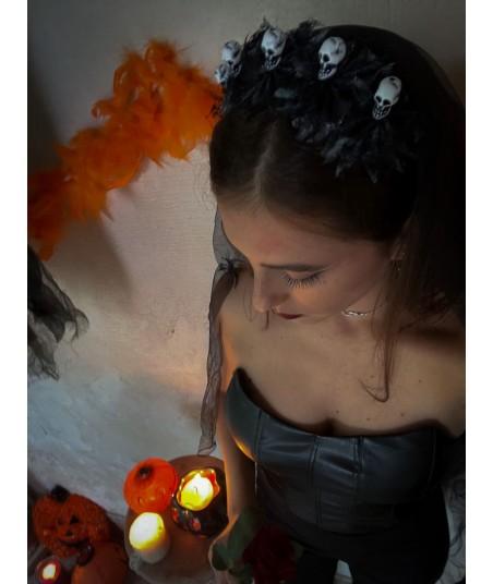 Cerchietto Halloween Skull