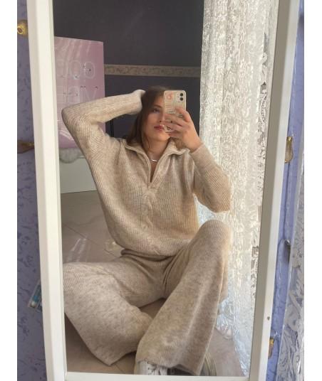 Melange Set Pullover + Pants