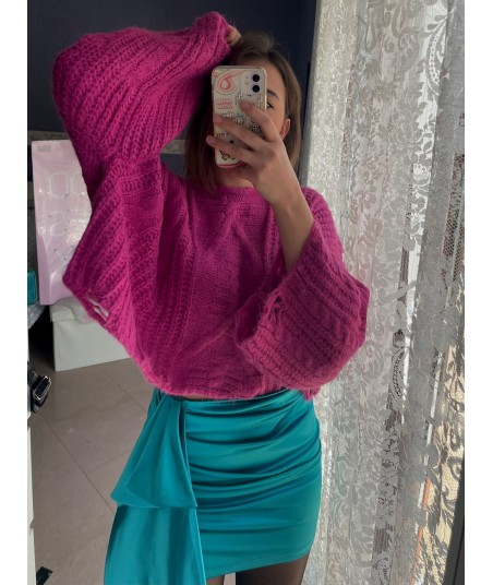 Extra Sleeves Magenta Sweater