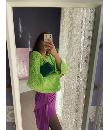 Satin Purple Skirt